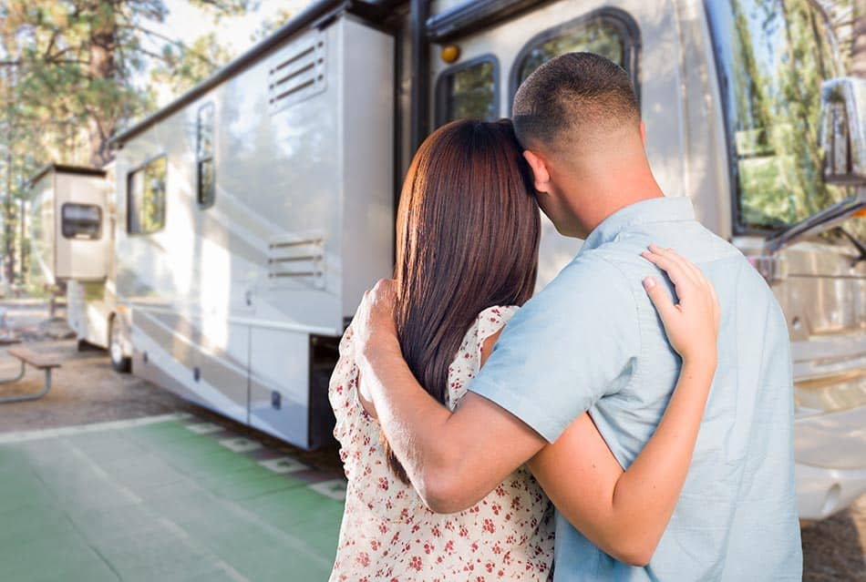 A couple buying an RV