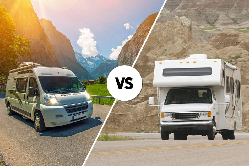 Class B RV and class C on road