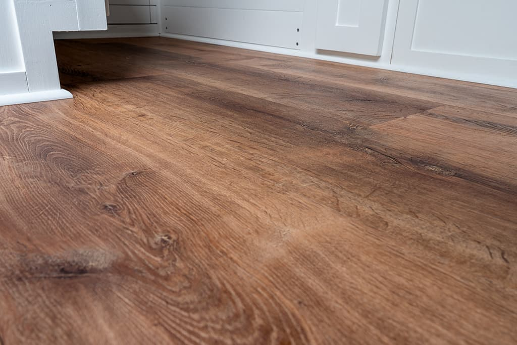 Close up of finished floor