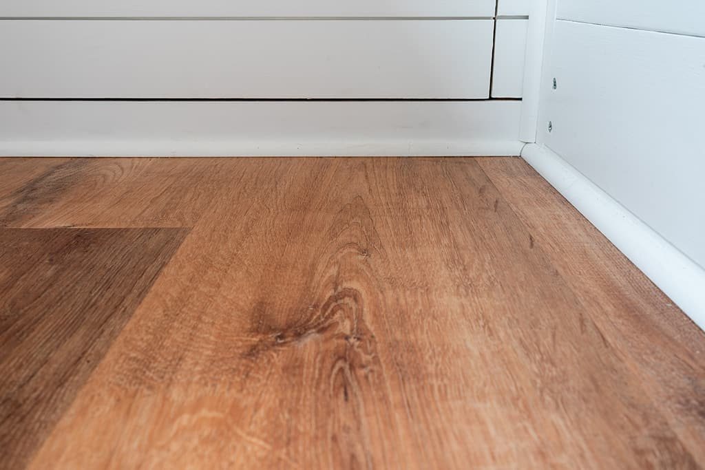 Close up of floor and corner
