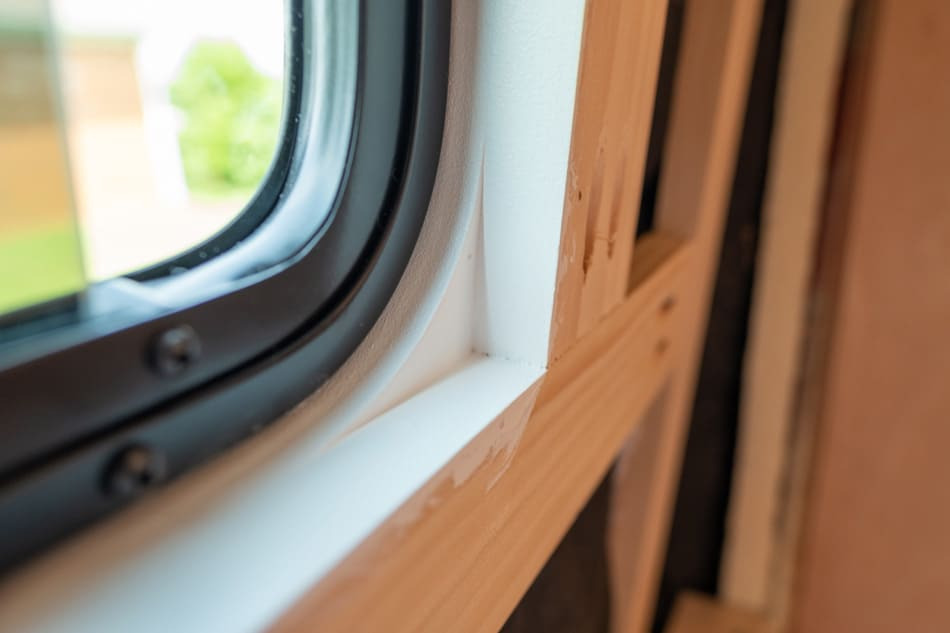 Interior window frame
