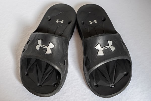 Camping shower shoes