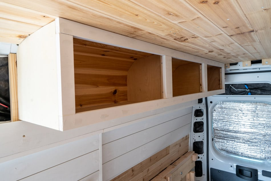 Facing on overhead cabinets