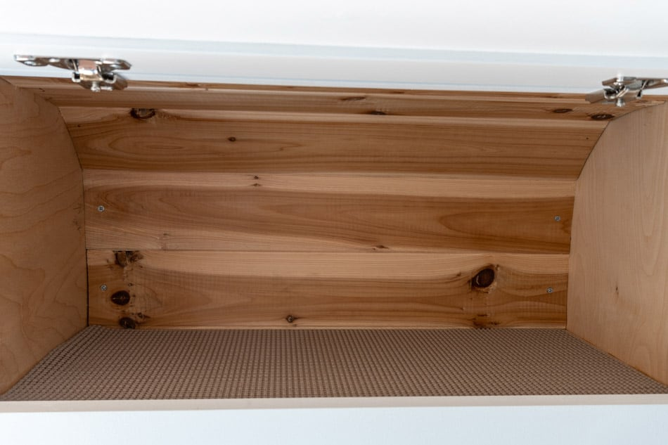 Shelf liners in cabinets