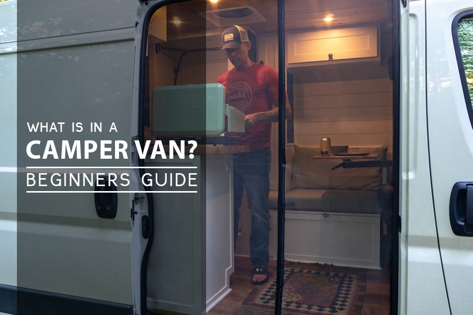 Cooking inside a camper van