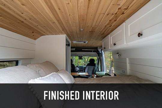 Van conversion finished interior
