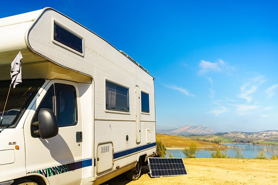 Boondocking in RV with solar panel